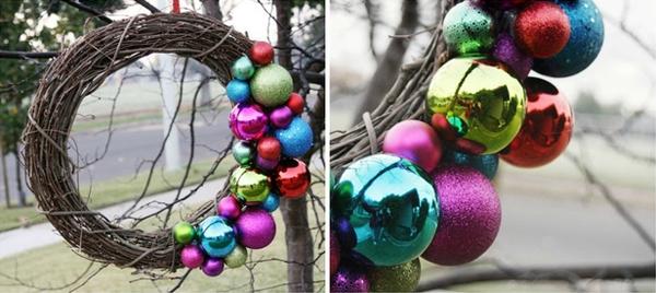 Tận dụng cành cây khô trong mùa đông, bạn có thể tự chế những vật dụng dễ thương trang trí cho đêm Giáng Sinh