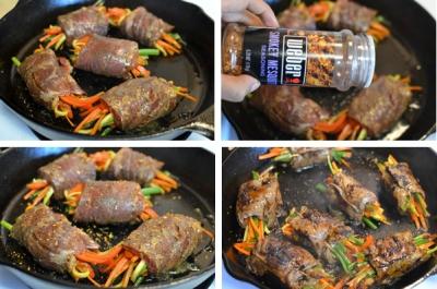 Bò cuộn rau củ nướng áp chảo 10