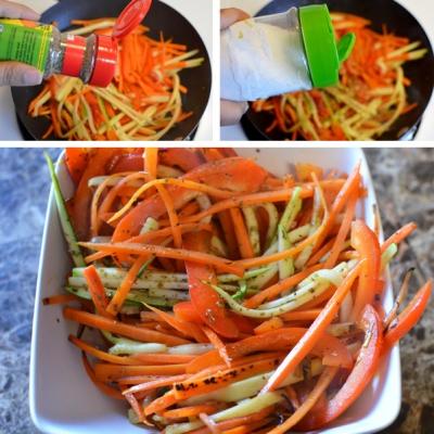 Bò cuộn rau củ nướng áp chảo 8