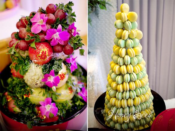 Trong lễ ăn hỏi, nhà tổ chức đám cưới chuyên nghiệp cũng sẽ sắp xếp mâm trápsao cho đầy đặn, đẹp đẽ nhất.