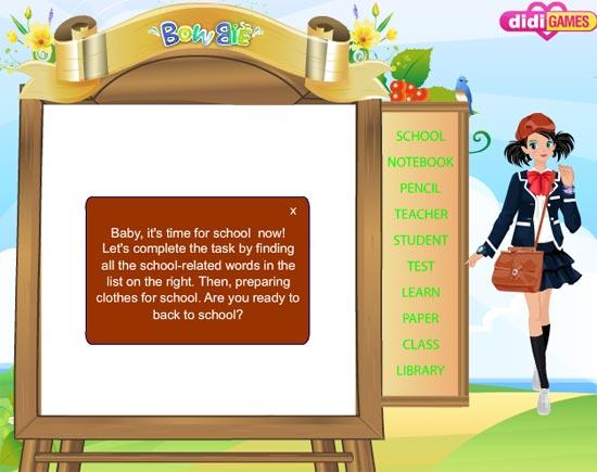 Tinh mắt tìm ra các từ tiếng Anh liên quan đến trường học trong bảng ô chữ được xếp lộn xộn.