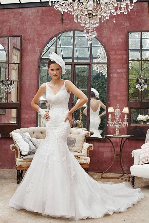 Váy cưới corset gợi cảm, tôn đường cong