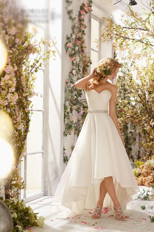 Váy cưới mùa xuân kiểu dáng đơn giản