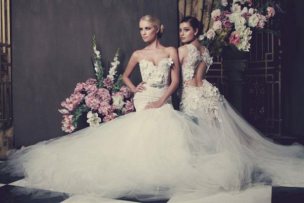 Váy cưới cao cấp cảm hứng từ hoa