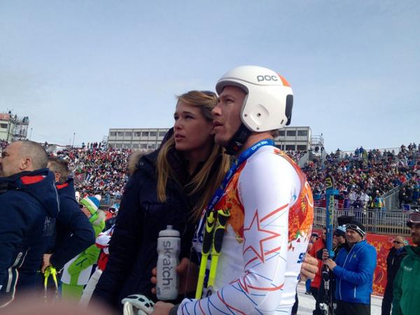 Tại Olympic Sochi năm nay, Morgan Beck cũng tới Nga cổ vũ cho chồng.