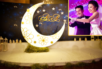 Quỳnh Anh đem vầng trăng vào tiệc cưới