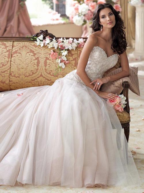 Váy cưới xuân hè kiểu dáng công chúa