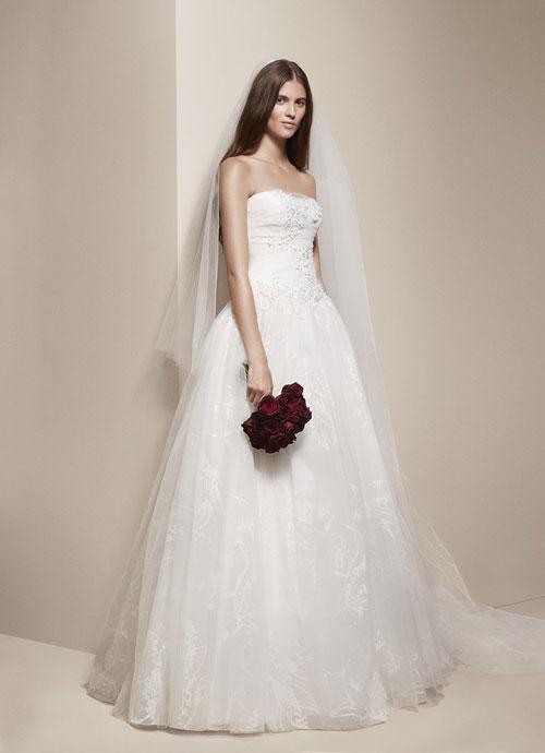 Váy cưới giá mềm của Vera Wang