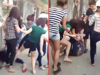 Nữ sinh bị bạn đánh hội đồng dã man