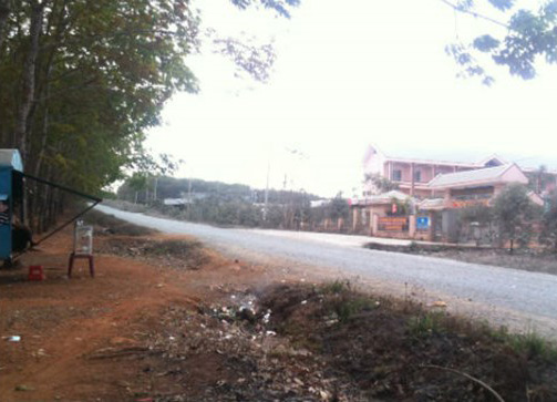 Khu vực trường học nơi xảy ra vụ án.