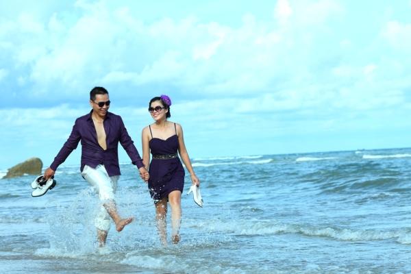 Những bức ảnh cưới ngọt ngào trên bãi biển