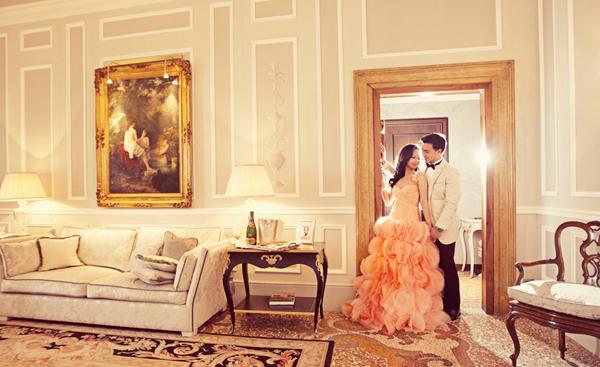 Chụp ảnh cưới ngọt ngào ở châu Âu
