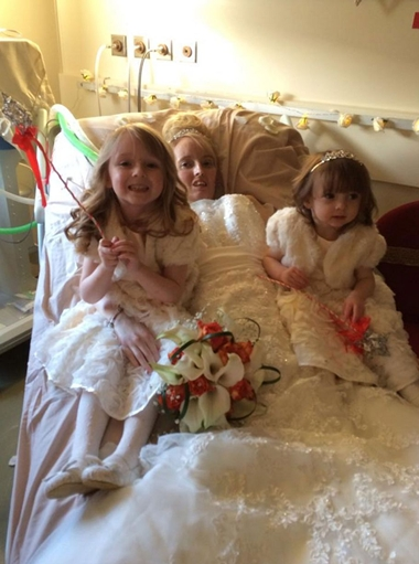 The couples two young daughters, four-year-old Ellie and Amelia Haf, two, were flower girls and Eleanor, one of Hayleys best friends was maid of honour.