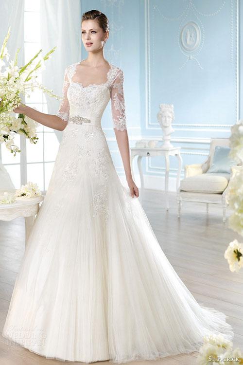 Váy cưới có tay sang trọng mùa xuân hè