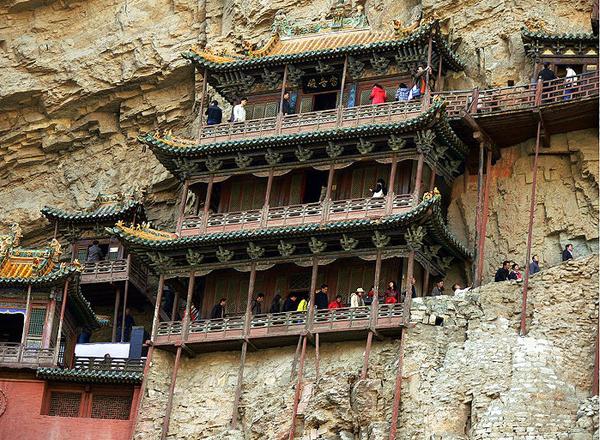 Ngôi chùa cheo leo vách núi ở Trung Quốc - hình ảnh 2
