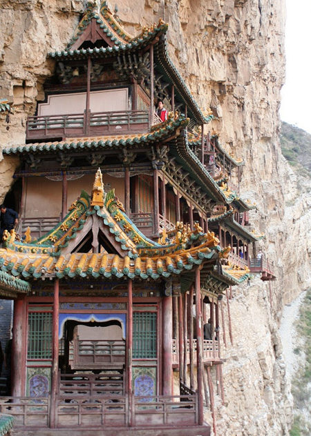 Ngôi chùa cheo leo vách núi ở Trung Quốc - hình ảnh 3