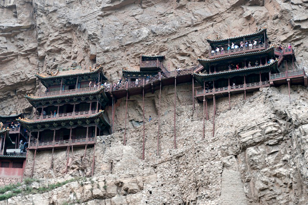 Ngôi chùa cheo leo vách núi ở Trung Quốc - hình ảnh 5