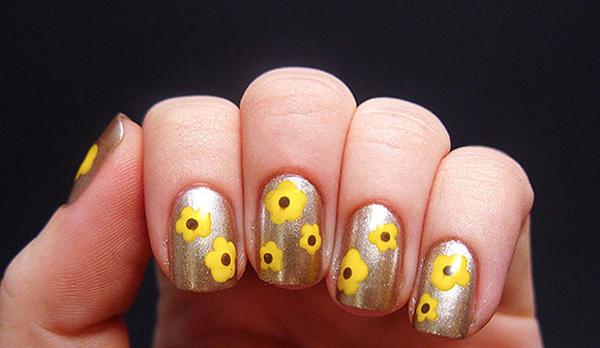 10 mẫu nail hoa xinh xắn cho nàng - hình ảnh 1