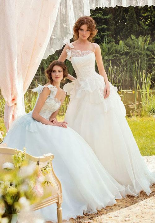 Cô dâu diệu đà với váy cưới xếp tầng