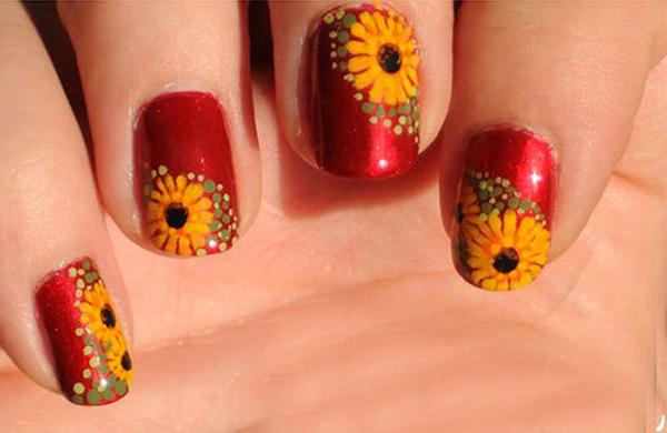 10 mẫu nail hoa xinh xắn cho nàng - hình ảnh 2