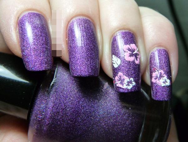 10 mẫu nail hoa xinh xắn cho nàng - hình ảnh 5