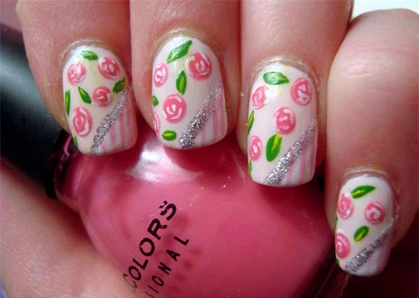 10 mẫu nail hoa xinh xắn cho nàng - hình ảnh 3