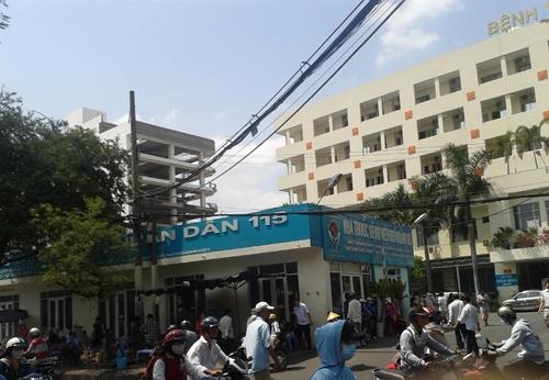Bệnh viện nơi anh Tùng điều trị.