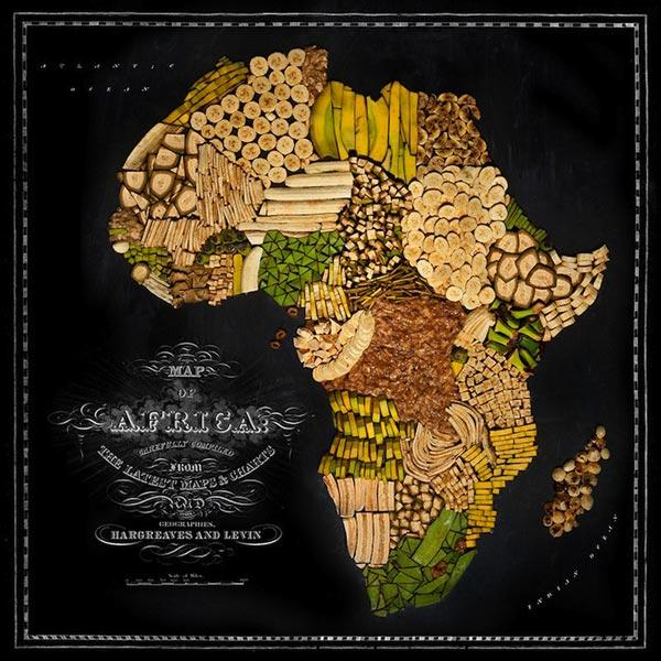 Châu Phi được tái hiện bằng chuối.