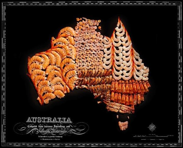 Những con tôm làm lên Australia.