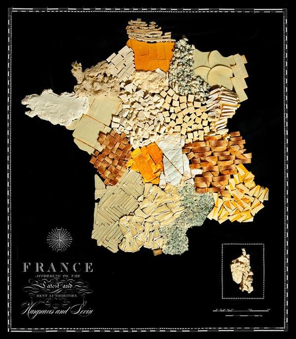 Nước Pháp làm từ bánh mỳ và phô mai.