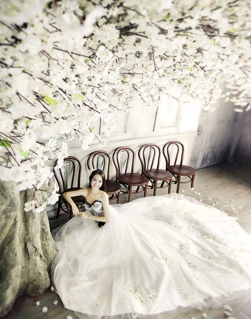 Chụp hình cưới đẹp phong cách Hàn Quốc ở studio