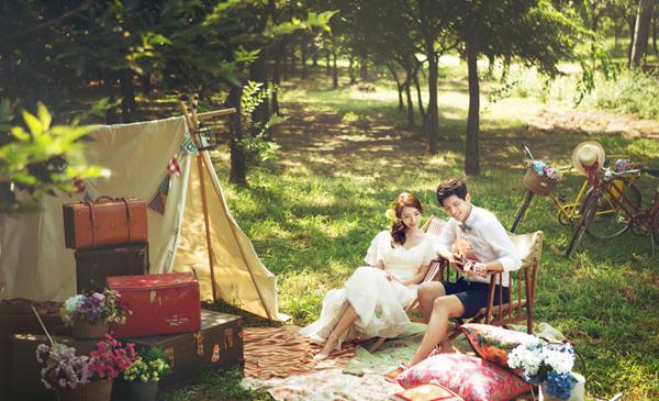 Uyên ương Hàn Quốc tình tứ trong ảnh cưới
