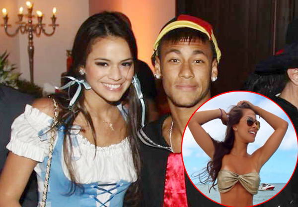Neymar with hot, sexy, Girlfriend Bruna Marquezine