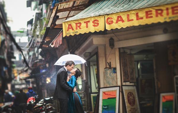 Ảnh cưới đẹp: Chuyện tình ngày mưa