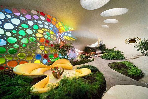 4. Nhà vỏ ốc vạn hoa ở Mexico.