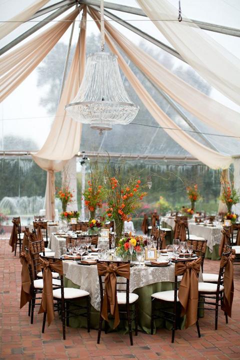 Nên dựng lều sớm ngay trước khi hôn lễ bắt đầu, đừng nên để tới khi trời mưa mới ứng phókhó ứng phó kịp thời hoặc cũng có thể xảy ra sơ suất, đổ vỡ khi dựng lều bạt.