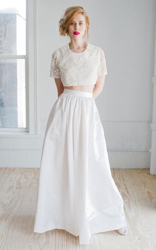 Xu hướng thời trang nổi bật mùa cưới 2014