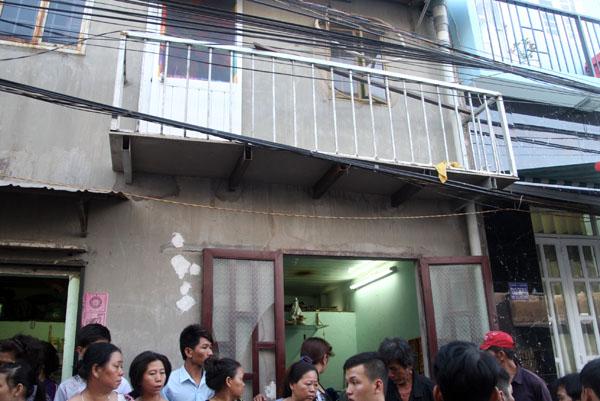 Căn nhà xảy ra vụ cặp đồng tính nữ treo cổ. Ảnh: Châu Thành