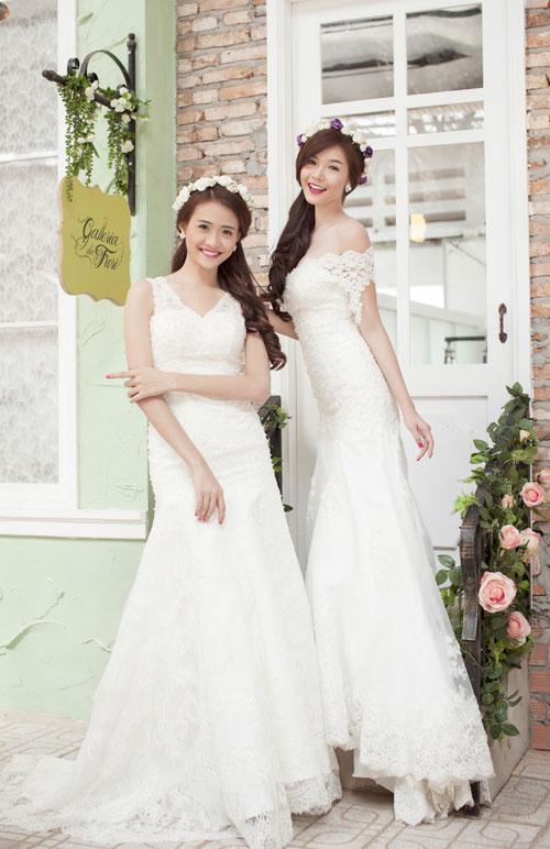 Kỳ Hân, Mỹ Nhân gợi ý chọn váy cưới đuôi cá