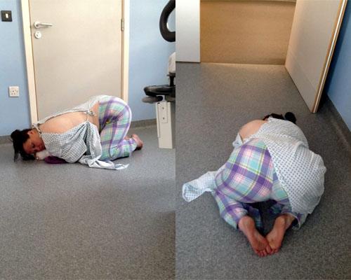 Bệnh nhân bò trên sàn bệnh viện xin thuốc