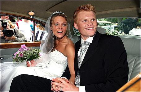 Riise và người vợ đầuGuri Havnevik có một cô con gái 13 tuổi. Ảnh: Redan.