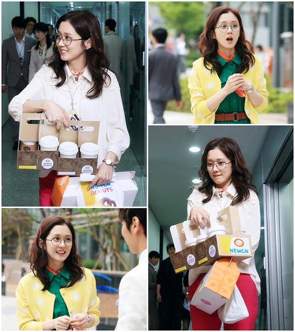 Jang Nara, cô gái có xuất thân nghèo khó, với tạo hình bình dị.