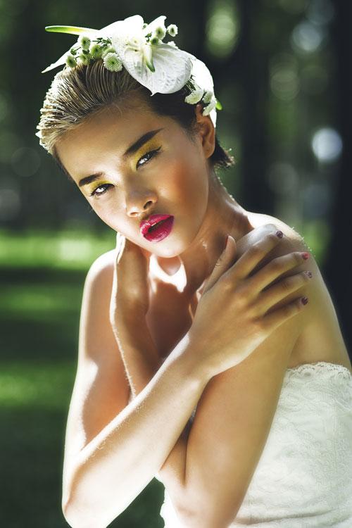 Đỗ Hà Next Top biến hóa với style cưới