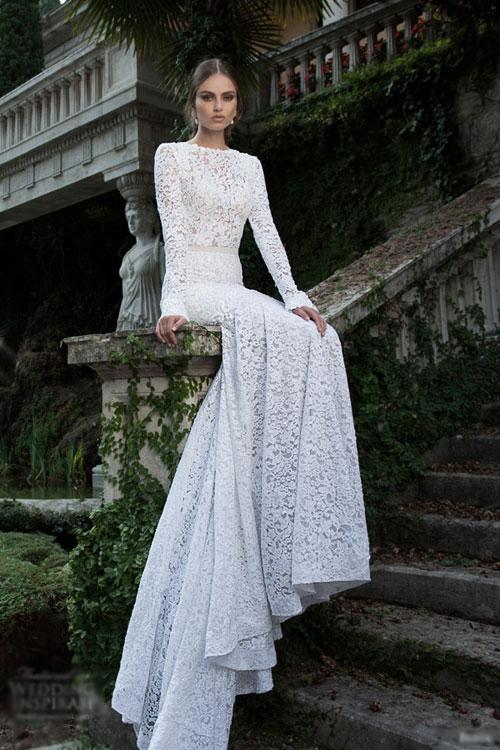 Váy cưới gợi cảm cho ngày se lạnh