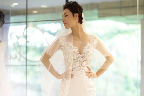 3 chiếc váy cưới lộng lẫy của Trà My Idol