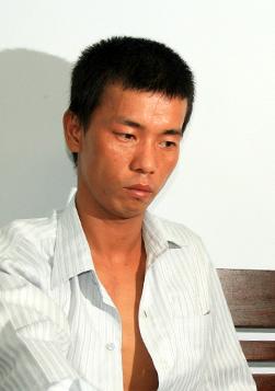 Phan Văn Sơn tại Công an Đà Nẵng.