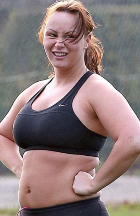 Hình ảnh Chanelle Hayes mũm mĩm khi mới bắt đầu quá trình giảm cân hồi tháng một. Sau nửa năm, người đẹp gần như lột xác