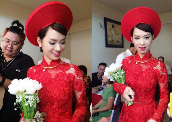 Sao Việt thích chọn áo dài cho ngày cưới hỏi