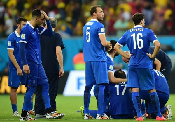 Hy Lạp thua trận, kết thúc cuộc phiêu lưu như cổ tích của đại diện châu Âu khi họ lần đầu lọt vào vòng đấu loại trực tiếp.