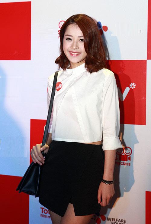 Hot girl Chi Pu sành điệu với váy quấn Origami - mẫu trang phục được yêu thích ở mùa hè 2014.